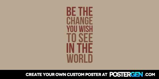 Custom Be The Change Twitter Cover Maker
