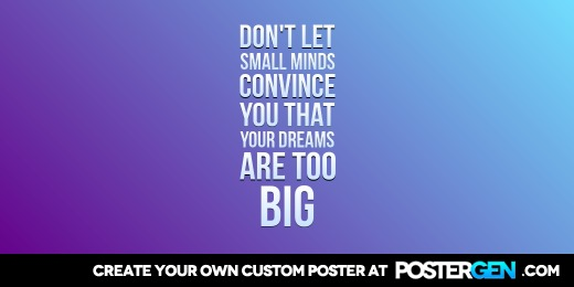 Custom Big Dreams Twitter Cover Maker
