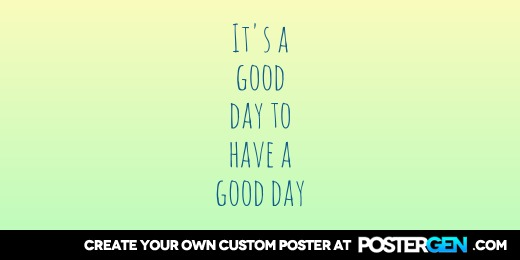 Custom Good Day Twitter Cover Maker