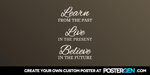 Custom Learn Live Believe Twitter Cover Maker