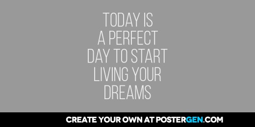 Custom Living Your Dreams Twitter Cover Maker