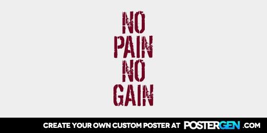 Custom No Pain Twitter Cover Maker