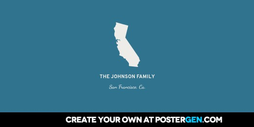 Twitter Cover Personalized State Wall Art