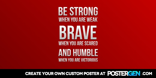 Custom Strong Brave Humble Twitter Cover Maker