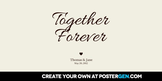 Twitter Cover Together Forever Print