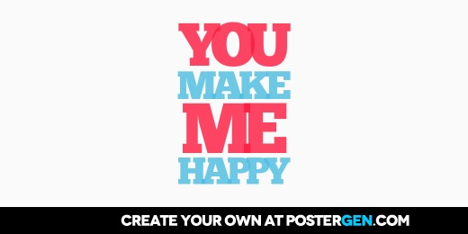 Custom You Make Me Happy Twitter Cover Maker