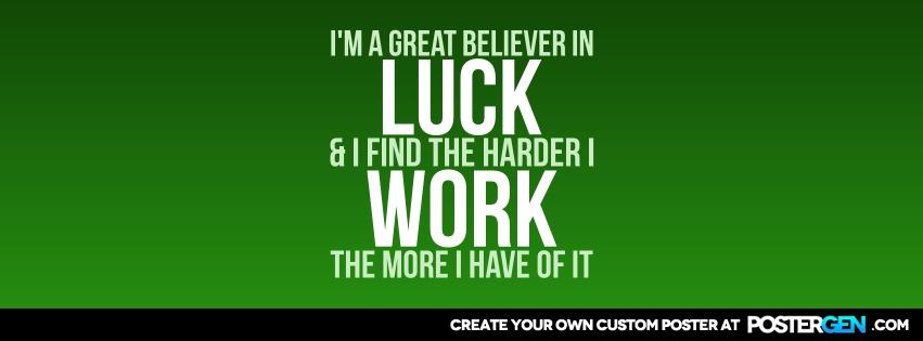 Custom Believe In Luck Facebook Cover Maker