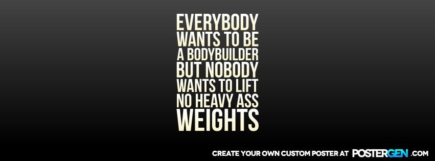 Custom Bodybuilder Facebook Cover Maker