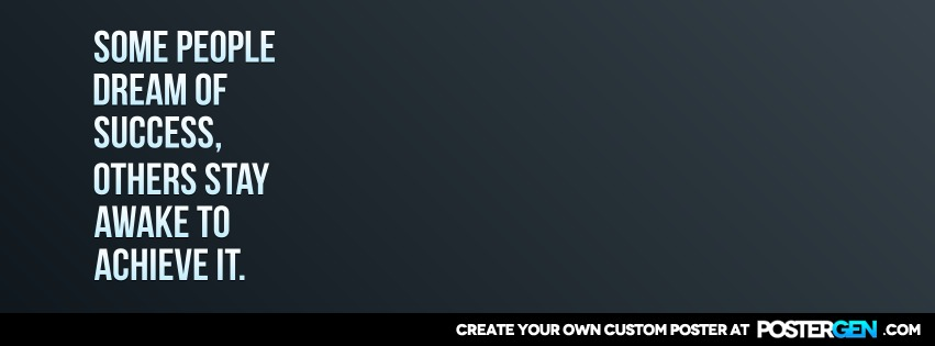 Custom Dream Of Success Facebook Cover Maker