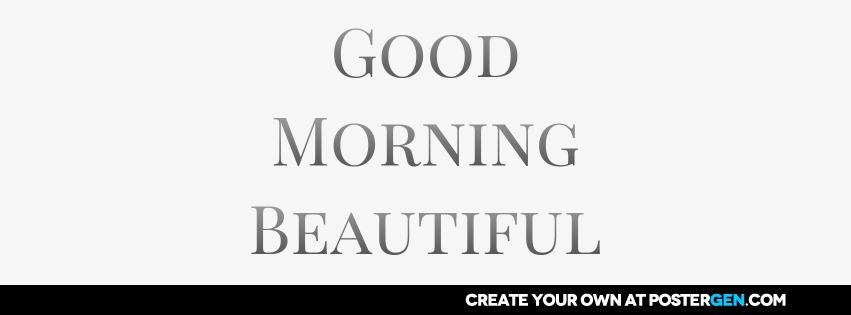 Custom Good Morning Facebook Cover Maker