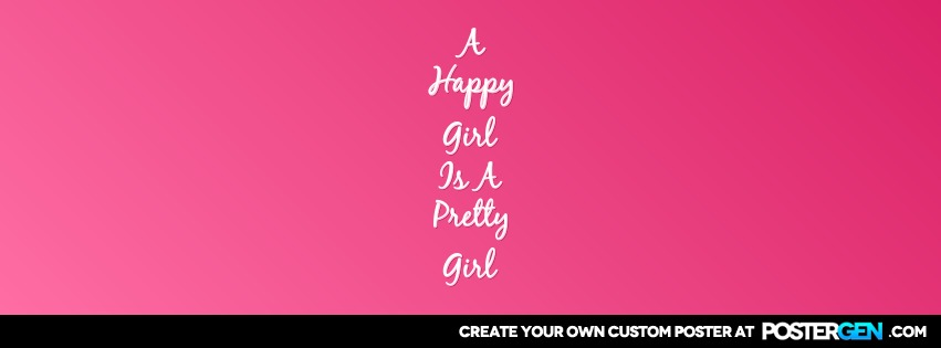 Custom Happy Girl Facebook Cover Maker