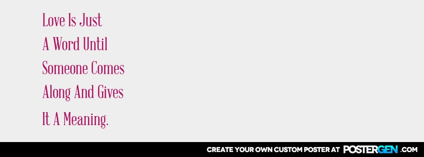 Custom Just A Word Facebook Cover Maker