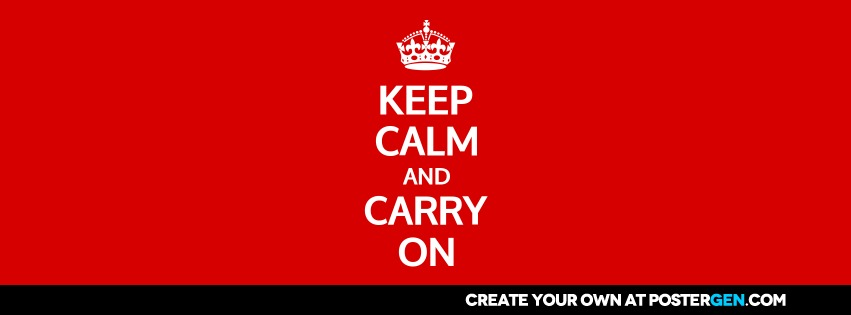 Facebook Cover Keep Calm Generator