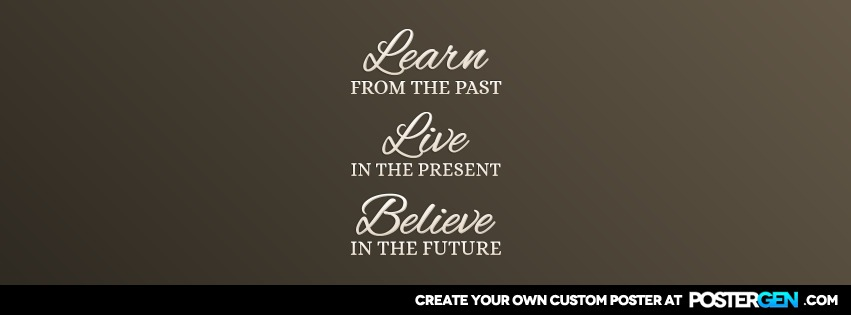 Custom Learn Live Believe Facebook Cover Maker