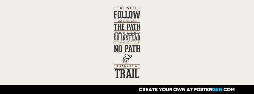 Custom Leave A Trail Facebook Cover Maker