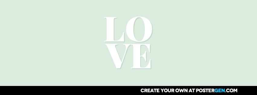 Custom Love Green Facebook Cover Maker