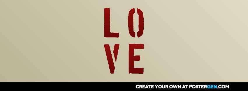 Custom Love Stencil Facebook Cover Maker