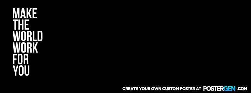 Custom Make The World Facebook Cover Maker