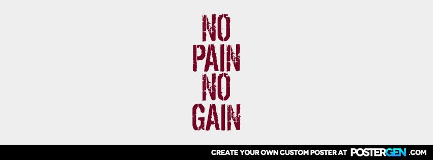 Custom No Pain Facebook Cover Maker