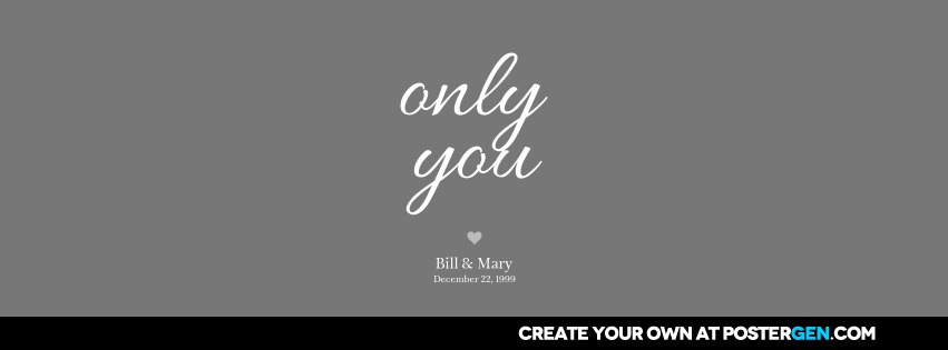 Facebook Cover Only You Print