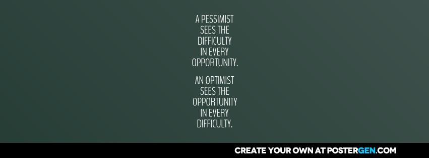 Custom Optimist Facebook Cover Maker