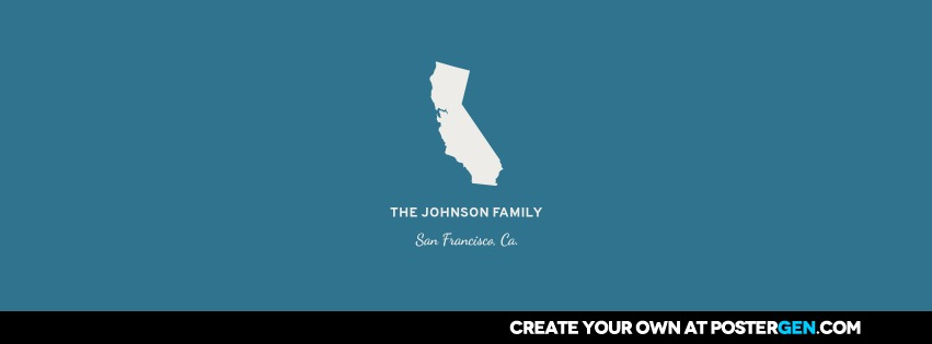 Facebook Cover Personalized State Wall Art