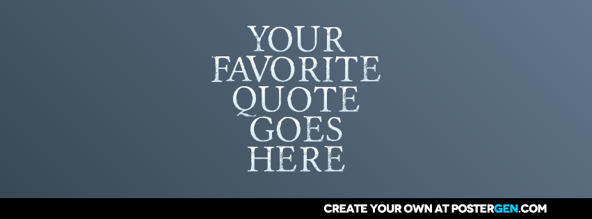 Facebook Cover Quote Generator