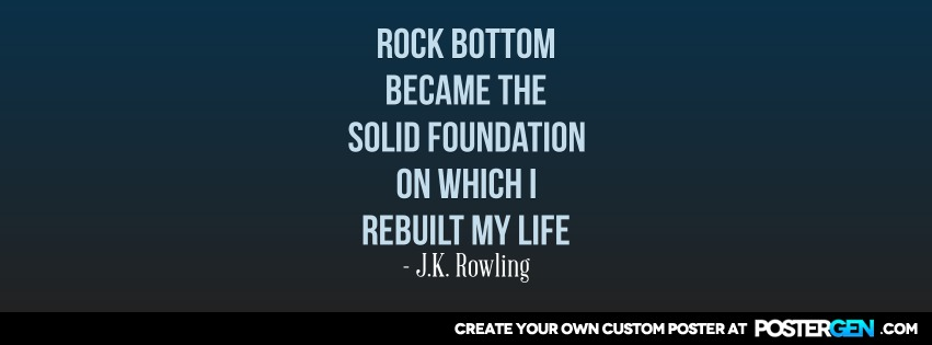 Custom Rock Bottom Facebook Cover Maker