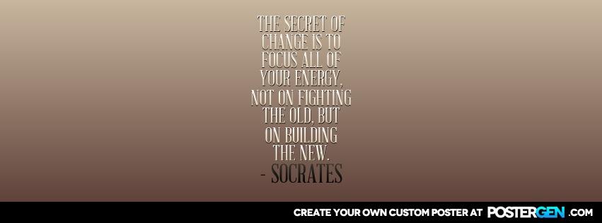 Custom Secret Of Change Facebook Cover Maker