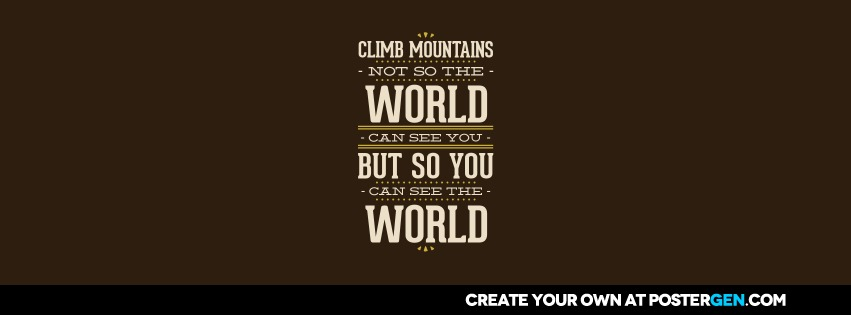 Custom See The World Facebook Cover Maker