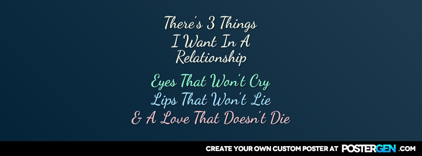 Custom Three Things Facebook Cover Maker