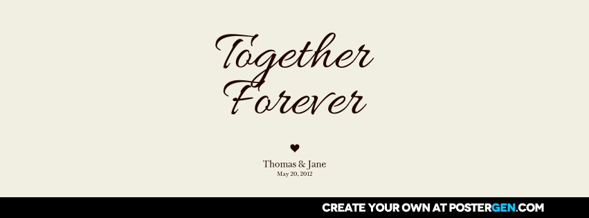 Facebook Cover Together Forever Print