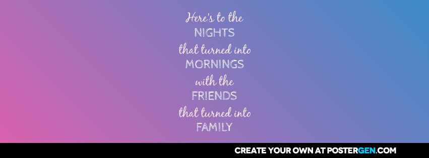 Turned Into Family Facebook Cover Maker Quote Posters Custom