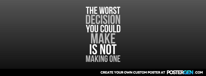 Custom Worst Decision Facebook Cover Maker