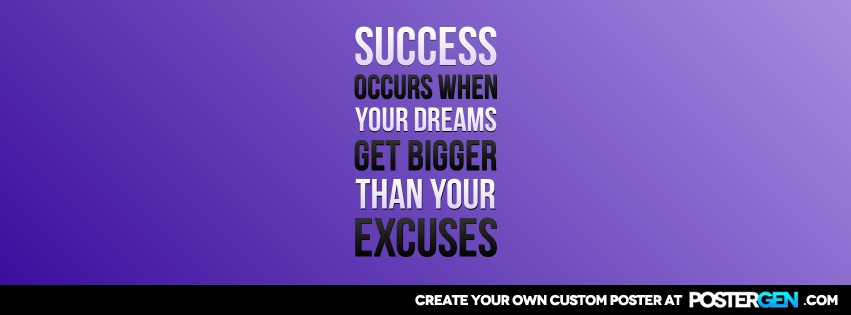 Custom Your Excuses Facebook Cover Maker