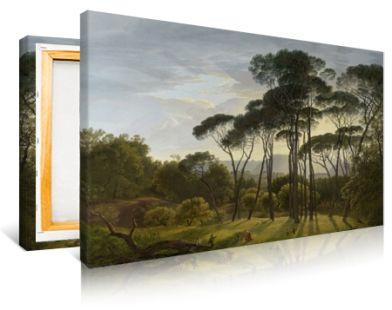 Hendrik Voogd Italian Landscape with Umbrella Pines Fine Art Print//Poster