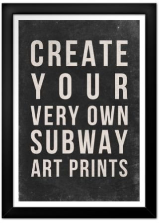 Subway Art Generator Print